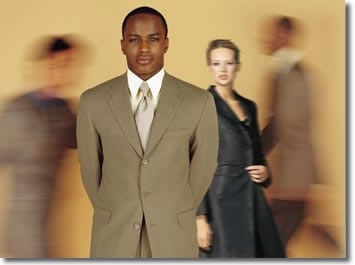 Image: Well-dressed man and woman in HR